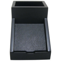 Victor 95055 6 5/16 inch x 4 1/2 inch Midnight Black Wood Collection Pencil Cup with Note Holder