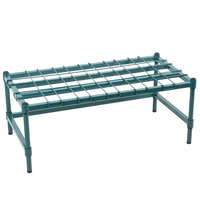 Regency 18 inch x 36 inch Heavy-Duty Green Dunnage Rack with Mat