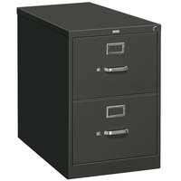 HON 312PS 310 Series Charcoal Full-Suspension Two-Drawer Filing Cabinet - 15 inch x 26 1/2 inch x 29 inch