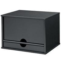 Victor 47205 Midnight Black Collection 13 5/16 inch x 10 1/2 inch x 9 3/16 inch 5 Section Wood Desktop Organizer