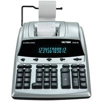 Victor 1240-3A 12-Digit Black / Red Two-Color Printing Calculator with Antimicrobial Coating - 4.5 Lines Per Second