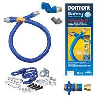 48 inch Dormont 1650KITCFS SafetyQuik Gas Appliance Connector Kit with SwivelMAX Connector - 1/2 inch Diameter