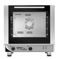 Global Solutions By Nemco GS1120 Half Size 4 Pan Countertop Convection Oven with Manual Controls and Steam Injection - 208-240V, 2750-2900W