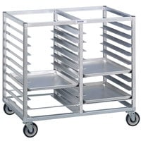 Channel 424A3 10 Pan Bottom Load Double Aluminum Bun / Sheet Pan Rack - Assembled
