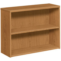 HON 105532CC 10500 Series Harvest 2 Shelf Laminate Wood Bookcase 36 inch x 13 1/8 inch x 29 5/8 inch