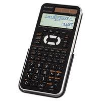 Sharp EL-W516XBSL 16-Digit LCD WriteView Solar Battery Powered Scientific Calculator
