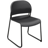 HON 4031LAT GuestStacker Charcoal Stackable Chair with Black Frame - 4/Carton