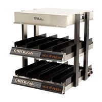 Global Solutions By Nemco GS1300-16-S 18 inch Slanted 2 Shelf Heated Merchandiser - 120V, 1275W