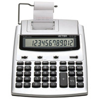 Victor 1212-3A 12-Digit LCD Blue / Red Two-Color Printing Calculator with Antimicrobial Coating - 2.7 Lines Per Second