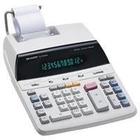 Sharp EL-2192RII 12-Digit Black / Red Two-Color Printing Calculator - 3 Lines Per Second