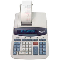 Victor 2640-2 12-Digit Black / Red Two-Color Printing Calculator - 4.6 Lines Per Second