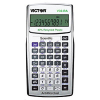 Victor V30-RA 10-Digit LCD Battery Powered Recycled Scientific Calculator with Antimicrobial Coating