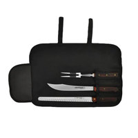 Dexter-Russell 20312 Connoisseur 3 Piece Black Carving Set with Cutlery Case