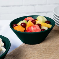 Tablecraft CW1449HGNS 1 Qt. Hunter Green with White Speckle Round Cast Aluminum Serving Bowl