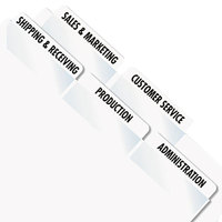 Redi-Tag 39170 2 inch White Laser Printable Plastic Index Tabs - 300/Pack