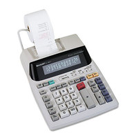 Sharp EL-1801V 12-Digit Black / Red Two-Color Printing Calculator - 2.1 Lines Per Second