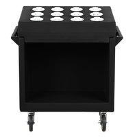 Cambro TDCR12110 Black 38 inch x 23 inch x 41 inch Tray/Flatware Cart
