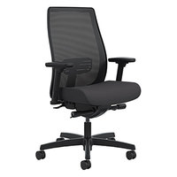 HON LWIM2ACU10 Endorse Black Ilira-Stretch Mesh Office Chair with Swivel Base