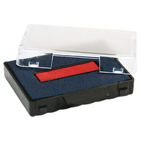 U. S. Stamp & Sign P5460BR 1 3/8 inch x 2 3/8 inch Blue and Red Self-Inking Dater Cartridge Refill