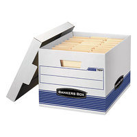 Fellowes 0078907 Banker's Box 12 3/4 inch x 16 1/2 inch x 10 1/2 inch White Letter/Legal Sized File Storage Box with Lift-Off Lid - 4/Case