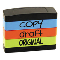 Stack Stamp USS8801 1 13/16 inch x 5/8 inch Assorted Fluorescent Ink Copy, Draft, Original Message Stamp