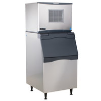 Scotsman C0530SA-1D Prodigy Series 30 inch Air Cooled Small Cube Ice Machine with Stainless Steel Exterior Bin - 525 lb.
