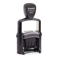 Trodat USST5030 1 5/8 inch x 3/8 inch Black Self-Inking Professional Date Stamp