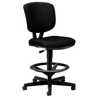 HON 5705GA10T Volt Black Task Stool with Swivel Base