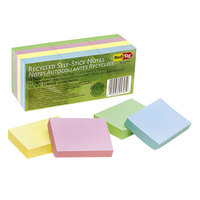 Redi-Tag 25701 1 1/2 inch x 2 inch Recycled Assorted Color 100 Sheet Self-Stick Note   - 12/Pack