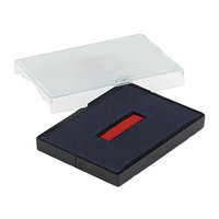 U. S. Stamp & Sign P4727BR 1 5/8 inch x 2 1/2 inch Blue and Red Self-Inking Dater Cartridge Refill
