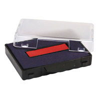 U. S. Stamp & Sign P5440BR 1 1/8 inch x 2 inch Blue and Red Self-Inking Dater Cartridge Refill
