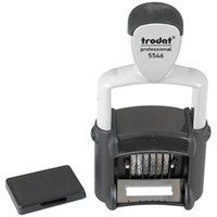 Trodat T5546 Six Digit Black Self-Inking Professional Numberer, Type Size 1 1/2