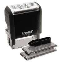 Trodat USS5915 3/4 inch x 1 7/8 inch Self-Inking Do-It-Yourself Customizable Message Stamp