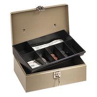 PM Company 04963 Pebble Beige Lock'n Latch Steel Locking 7-Compartment Cash Box