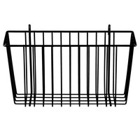 Metro H209-DBM Black Matte Storage Basket for Wire Shelving 13 3/8 inch x 5 inch x 7 inch