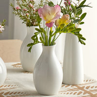 Acopa 3 3/4 inch Bright White Porcelain Jug Bud Vase - 12/Case