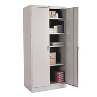 Tennsco 2470LGY 36 inch x 24 inch x 78 inch Light Gray High Deluxe Storage Cabinet