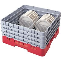 Cambro CRP2046163 Red Full Size PlateSafe Camrack 4-6 inch
