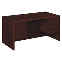HON 10771NN 10700 Series 60 inch x 30 inch x 29 1/2 inch Mahogany 3/4 Height Double Pedestal Desk