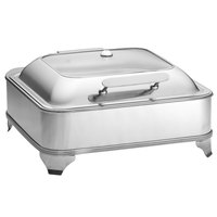 Tablecraft CW40162 5 Qt. 2/3 Size Stainless Steel Quick View Electric Chafer with Stand - 110V