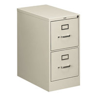 HON 512PQ 510 Series Light Gray Two-Drawer Full-Suspension Letter Filing Cabinet - 15 inch x 25 inch x 29 inch