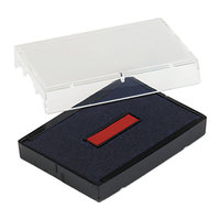 U. S. Stamp & Sign P4729BR 1 9/16 inch x 2 inch Blue and Red Self-Inking Dater Cartridge Refill