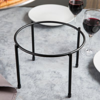 Clipper Mill by GET IR-510 10 inch Black Powder Coated Iron Round 1-Tier Pizza Stand