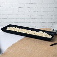 Tablecraft CW11047MBS 25 inch x 8 inch x 2 1/2 inch Midnight with Blue Speckle Cast Aluminum Flared Rectangular Platter