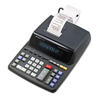 Sharp EL2196BL 12-Digit Black / Red Two-Color Printing Calculator - 3.7 Lines Per Second