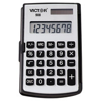 Victor 908 8-Digit LCD Solar Battery Powered Portable Pocket / Handheld Calculator