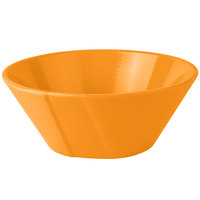 Tablecraft CW1449X 1 Qt. Orange Round Cast Aluminum Serving Bowl