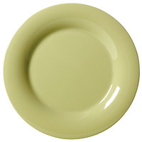 GET WP-7-AV Avocado Diamond Harvest 7 1/2 inch Wide Rim Plate - 48/Case