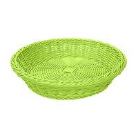 GET WB-1502-G 11 1/2 inch x 2 3/4 inch Designer Polyweave Green Round Basket - 12/Case