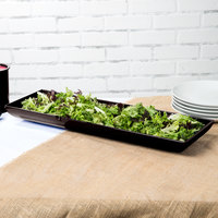 Tablecraft CW11047MS 25 inch x 8 inch x 2 1/2 inch Midnight Speckle Cast Aluminum Flared Rectangular Platter